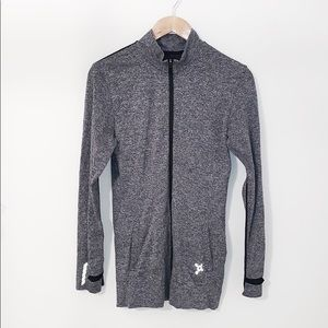 ORANGETHEORY Gray Zipper Jacket W/pockets